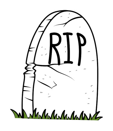 rest in peace: Rest in Peace - Cartoon Grave - halloween vector illustration