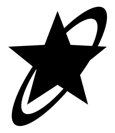 Retro Star Shape Illustration