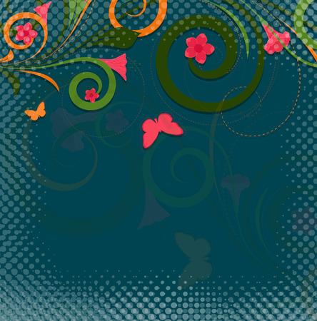 swirl: Swirl Halftone Background