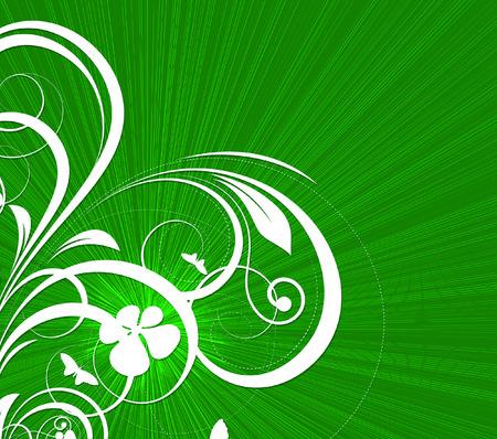 st valentine  s day: St. Patricks Day Floral Background