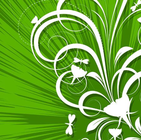 st valentine  s day: Flourish Design Abstract Background Illustration