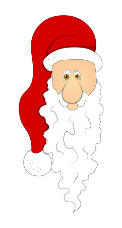 santa claus face: Funny Old Santa Claus Face