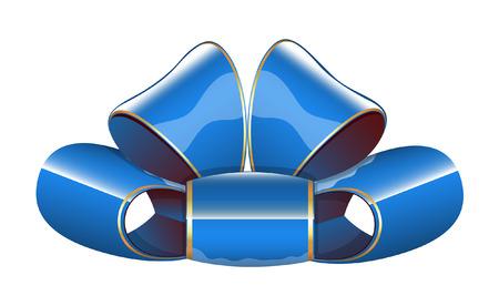 Blue Glossy Boog van het Lint