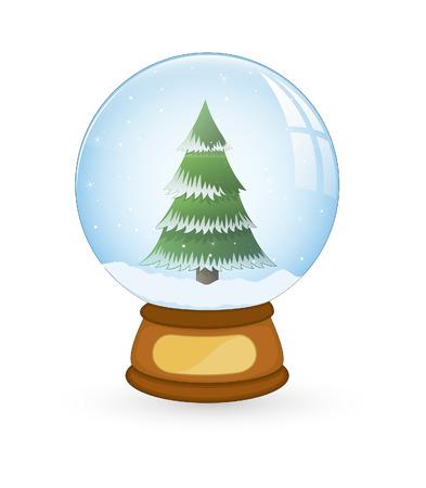 boule de neige: Arbre de No�l Snowball Illustration