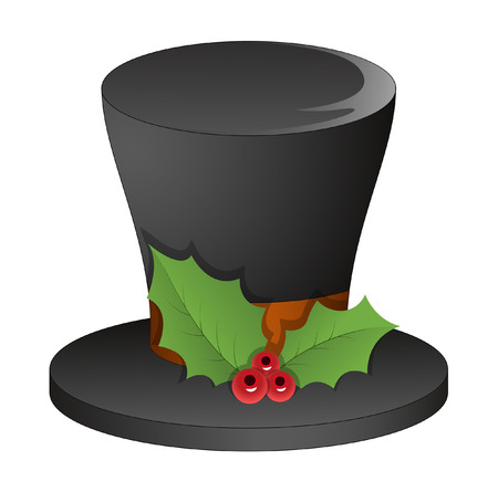 holy leaves: Black Hat with Holy Leaves Vector