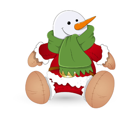 Sitting Funny Santa Claus Toy Vector