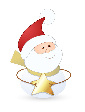gold star: Santa Claus with Gold Star