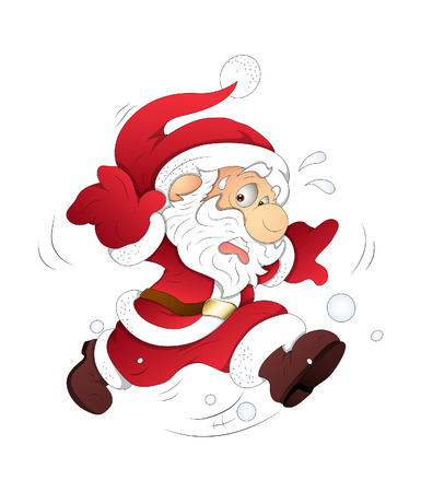 Scared Santa Running