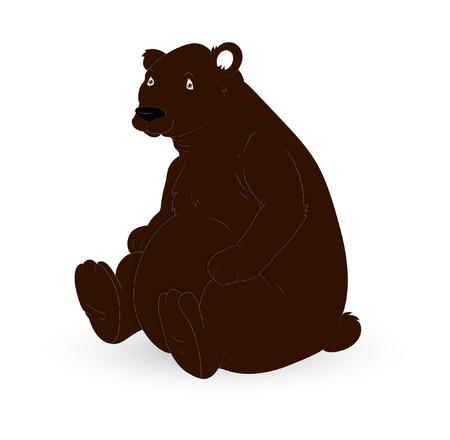 brown: Brown Cartoon Bear Character Illustration