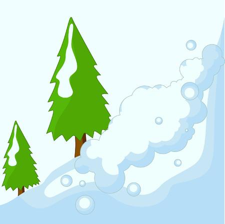 snowfalls: Trees on Snow Land Vector Background