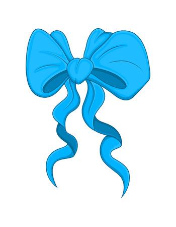 ribbon bow: Gift Ribbon Bow Vector Illustration