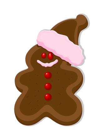 Chocolaty Cartoon Gingerbreadman Cake with Cap