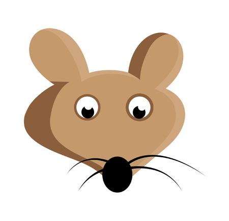 whisker characters: Asustado de rat�n del vector de la cara