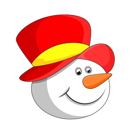 face expression: Smiling Snowman Face Expression