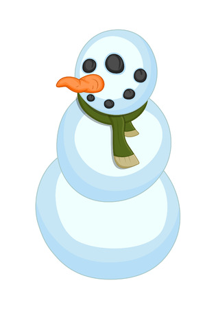 Funny Snowman Character Vector