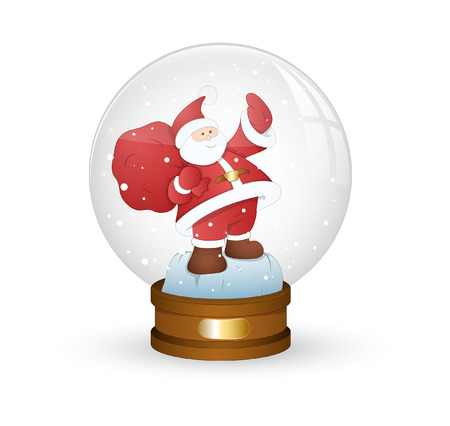 snowball: Santa Claus with Gift Bag in Snowball