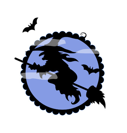strega che vola: Halloween Witch Shape Volare