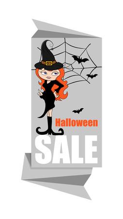 papier banner: Halloween-Hexe-Papier Banner