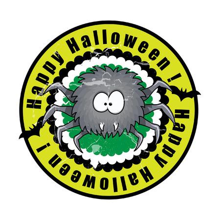 halloween spider: Funny Halloween Spider Vector