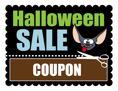 Halloween Sale Banner Discount Coupon Illustration