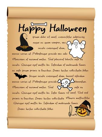 parchment paper: Happy Halloween Parchment Paper Banner