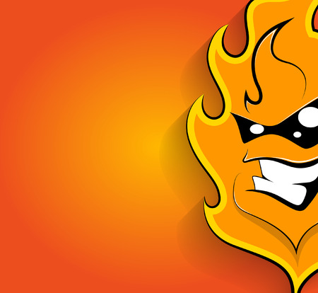 face expression: Happy Mascot Fire Face Expression
