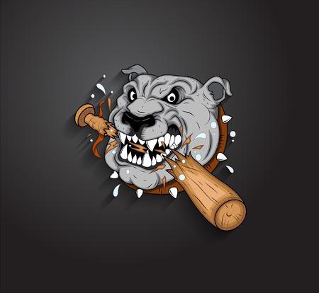 bulldog: Angry vectorial Bulldog Mascot