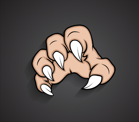 Scary Halloween Ghost Hand Vector Illustration