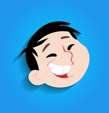 laughing: Funny Kid Laughing Face Illustration
