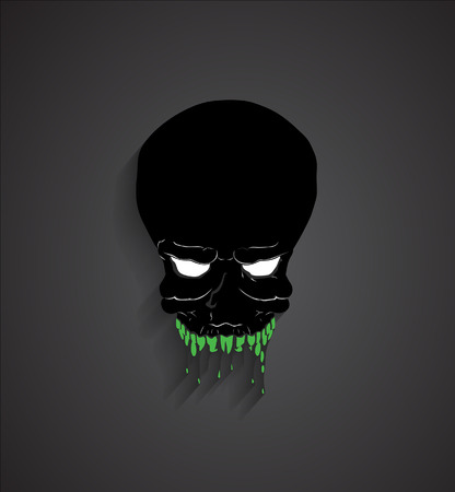 ghost face: Spooky Halloween Ghost Face Illustration