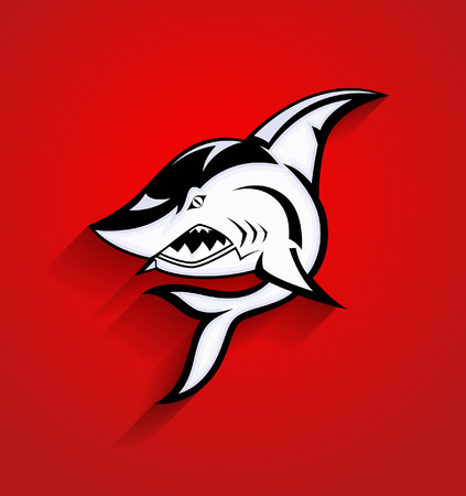 shark: Angry Shark Tattoo Mascot Vector