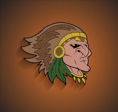 red indian: Red Indian Cartoon Character Face Expression
