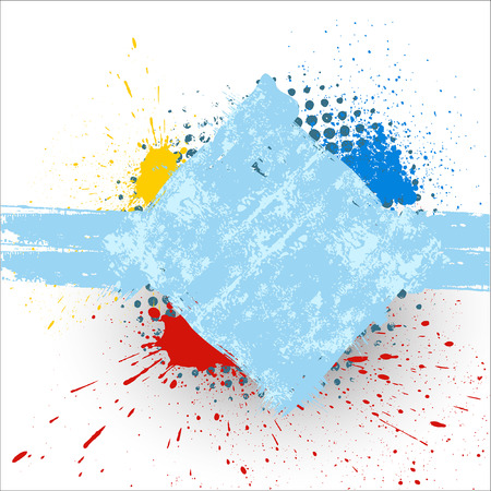 Abstract Grunge Texture Banner Design