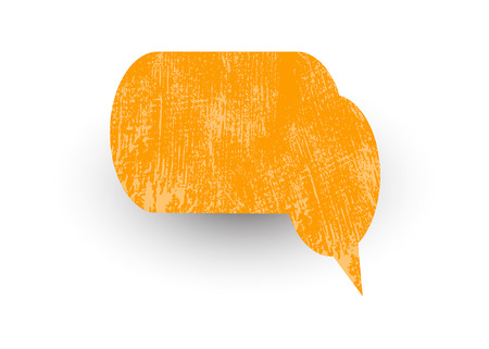 speech bubble vector: Rusty Speech Bubble Vector Illustration
