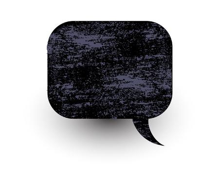 rough: Old Rough Chat Bubble