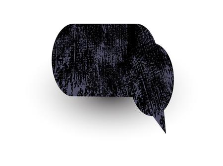 rough: Grunge Rough Chat Bubble Texture Illustration