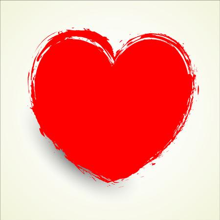 Grunge Heart Shape