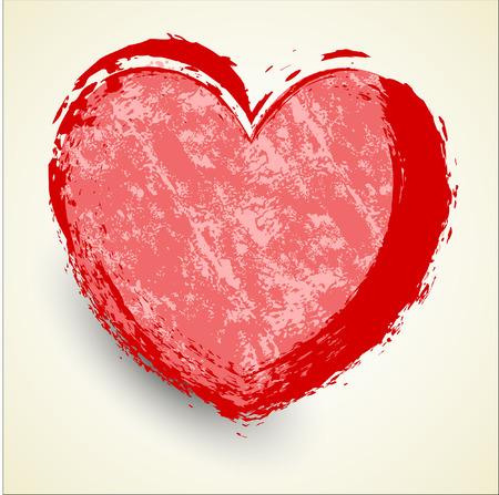 grunge banner: Grunge Heart Banner
