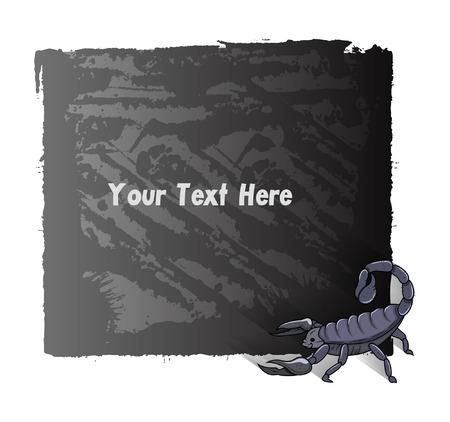 Scorpion Grunge Banner Vector