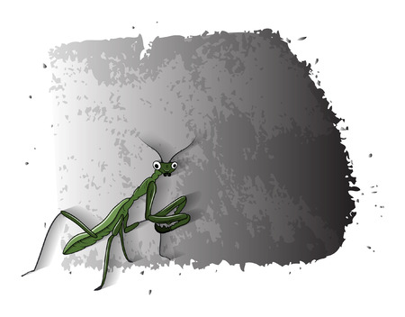 mosquitoes: Cartoon Mosquitoes Grunge Banner