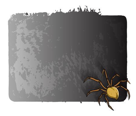 halloween spider: Scary Spider Halloween Banner Illustration