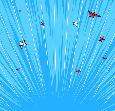 comic background: Retro Stars Sunburst Background Illustration