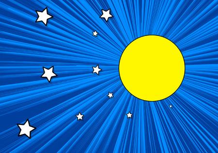 backgrund: Stars in Moonlight Backgrund Illustration
