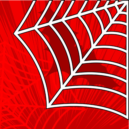 spider web background: Halloween Spider Web Background Illustration