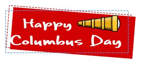 columbus: Feliz D�a de la Raza Banner