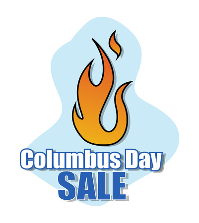 columbus: Columbus Day Fire Sale Banner Vector
