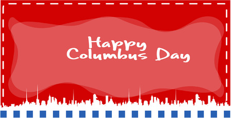 skylines: Columbus Day Skylines Banner Vector
