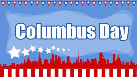 columbus: Columbus Day Graphic Banner
