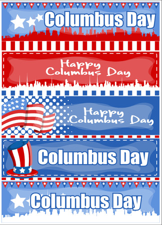 skylines: Columbus Day Graphic Banner