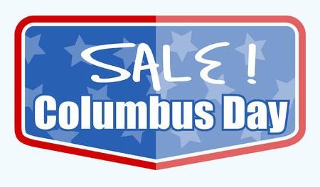 columbus: Columbus Day Sale Label Banner